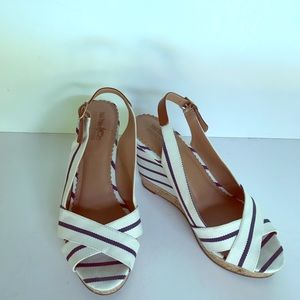 Coach and Four sling back peep toe shoes